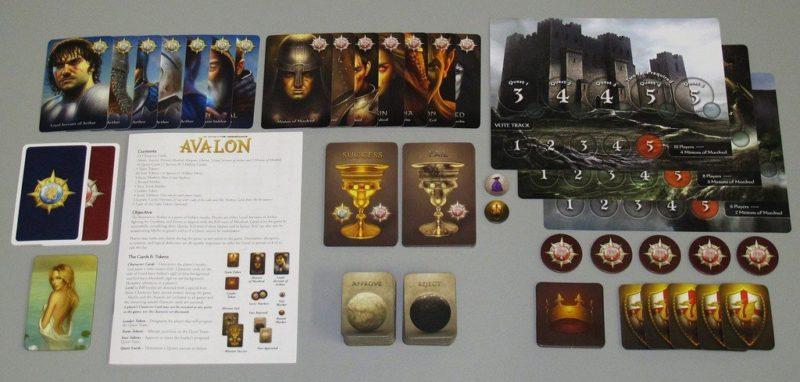 các thành phần có trong avalon board game