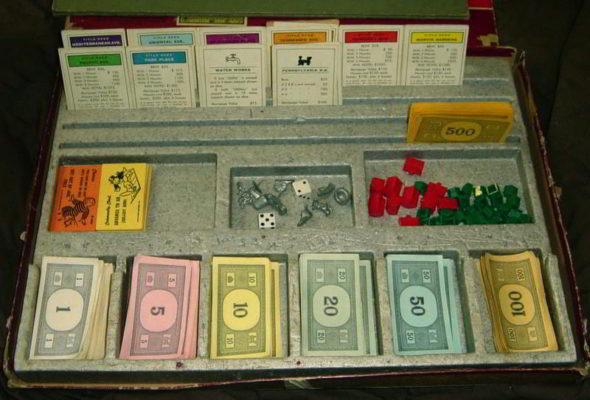 luật chơi cờ tỷ phú, các thẻ đất và tiền trong cờ tỷ phú