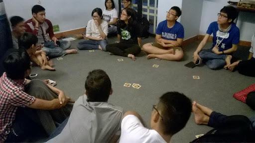 không gian chơi board game